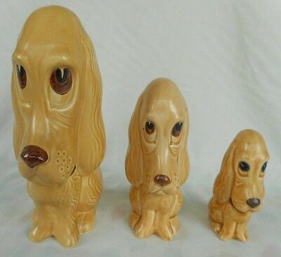 Three Sylvac Long Faced Dogs ~ Models 2950 / 2951/ 2938 ~ Such Cute Items !