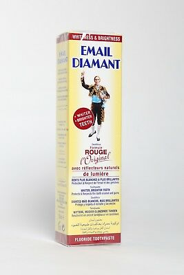 Email Diamant French red cosmetic toothpaste