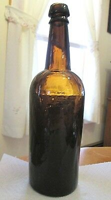 Beautiful antique Whiskey Bottle 3 piece mold and super crude!!