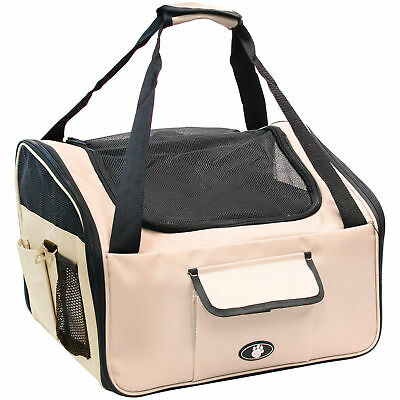 Me & My Pets Small Cream Dog/puppy/cat Travel/safety Seat Carry Crate/carrier