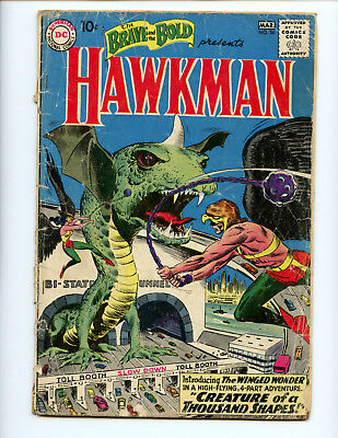 Brave and the Bold 34 1st Silver Age Hawkman key book affordable