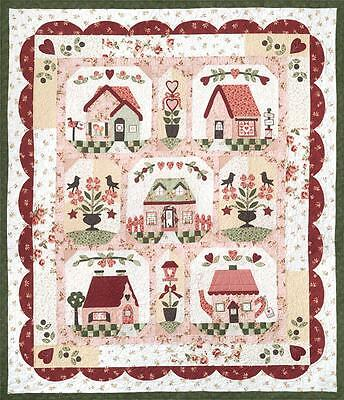 Follow Your Heart Haus Vogel Blumen Valentins Tag Quilt Company Muster