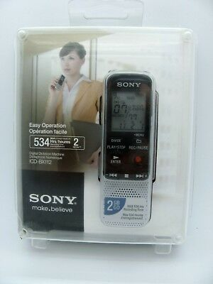 Sony ICD-BX112 - Digital voice recorder - flash 2 GB – Max 534Hrs. Rec.