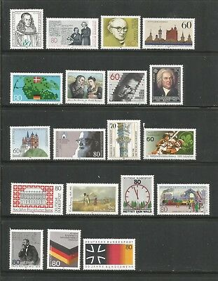 Germany – 1985 – Commemorative Sets And Singles – 19 Different - Mnh