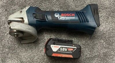 Bosch Professional GWS 18 V-LI Cordless Angle Grinder With 4ah Battery