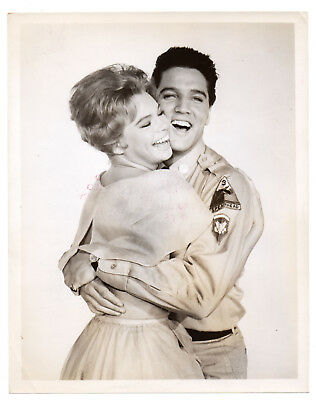 Elvis Presley & Juliet Prowse 8x10 Movie Press Publicity Photo 1960 GI Blues