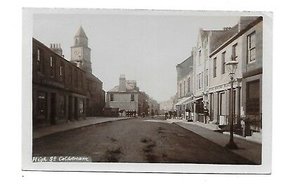 COLDSTREAM Postcard High Street Early Berwickshire RP Animated Shops