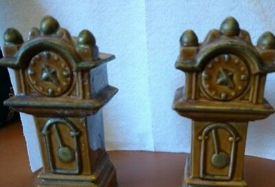 Vintage Grandfather Clock Salt and Pepper Shakers