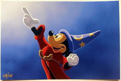 Mickey's Magical Touch - Lithograph & Jubo Pin - Acme/hotart Le 100 -  Disney