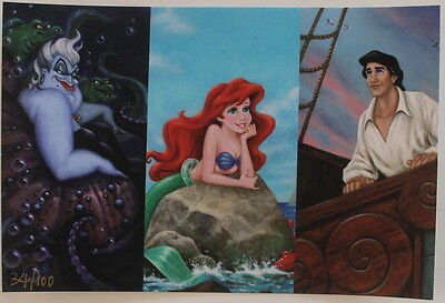 Ariel ,the Siren Song - Art & Jumbo Pin  - Acme Le 100 - Disney - Little Mermaid