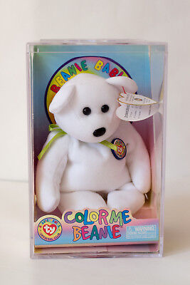 TY Beanie Baby - Color Me Bear (Green Ribbon) - New in Box, Complete, Mint (MWT)