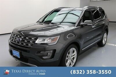 2016 Ford Explorer Limited Texas Direct Auto 2016 Limited Used 3.5L V6 24V Automatic FWD SUV Moonroof