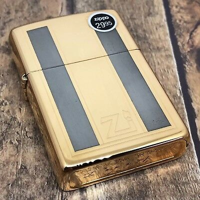 1995 Vintage Zippo Lighter - Two Tone Gold and Silver - Mr. President - Unfired