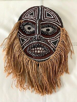 Woven Painted Decorated Tribal Mask, Age & Origin  Unknown