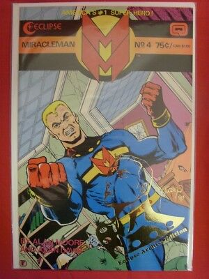 Miracleman 4 Archives Gold Eclipse Uncircluated Variant Comic W/coa 65 Moore