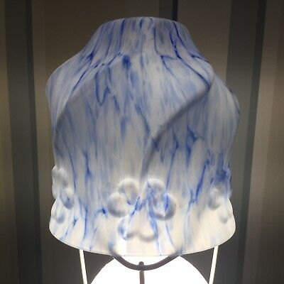 Art Deco Blue And White Glass Lamp Shade