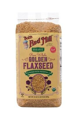 Bobs Red Mill Organic Raw Whole Golden Flaxseed 24-ounce Gluten Free