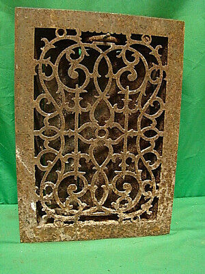 Antique Cast Iron Heating Grate Unique Ornate Design 13.75 X 9.75 Hgc