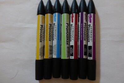 Letraset Promarker Doppelspitze Set mit 7 Farben / wie Copic / Touch