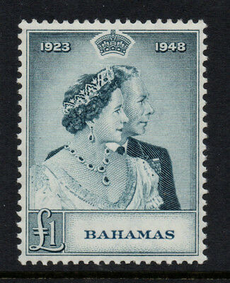 Bahamas 1944 £1 Slate-Green KGVI Royal Silver Wedding - SG 195 - LMM