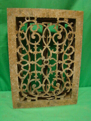 Antique Cast Iron Heating Grate Unique Ornate Design 13.75 X 9.75 ,mefg