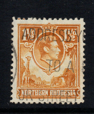"Northern Rhodesia 1938/51 1½d Yellow-Brown KGVI with ""Tick Bird"" Flaw- SG31-Used"