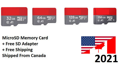 SanDisk MicroSD Micro SD Memory Card TF 32GB 64GB 128GB 256GB Lot Class 10 Ultra