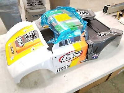 LOSI 5IVE T body - name: SCRR - 1 piece clear 1:5 body