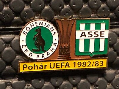 Pins Badge Football Asse Saint Etienne Vs Bohemians Praha 1982 / 1983