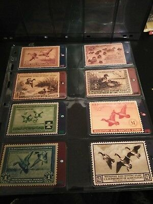 duck stamp phone cards, eight different