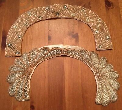 Lot Of 2 Beaded Vintage Collars