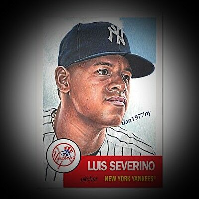 2018 Topps Living Set Card #115 Luis Severino. Free Shipping &*Price Guaranteed