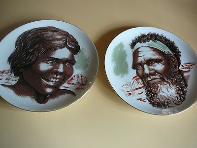 australian aboriginal girl and man plate large westminster