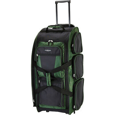 """Travelers Club Luggage 30"""" Xpedition Multi-Pocket Rolling Duffel NEW"""