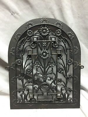 One Antique Arched Top Heat Grate Grill Floral Decorative Arch 11X14 619-18C