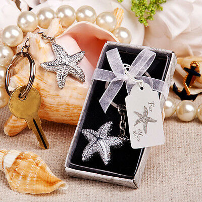 Brilliant Starfish Key Chain / Keyring. Beach Theme Boxed Ladies Favour Gift