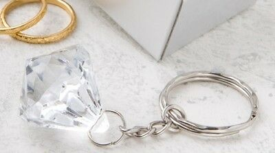 Clear Diamond Collection Diamond Design Key Chain Keyring Boxed Ladies Girls Gif