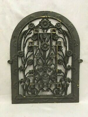One Antique Arched Top Heat Grate Grill Floral Decorative Arch 11X15 620-18C