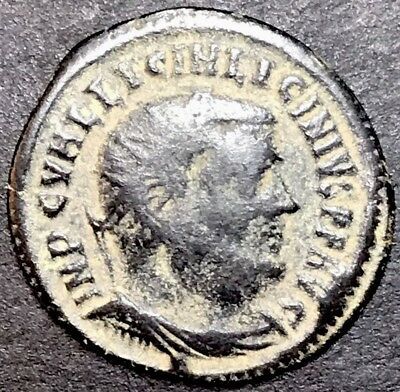 Licinius I AE3. Ancient Roman Imperial Coin. Alexandria Mint.