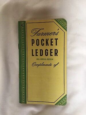 John Deere FARMERS POCKET LEDGER~89TH~1955-1956