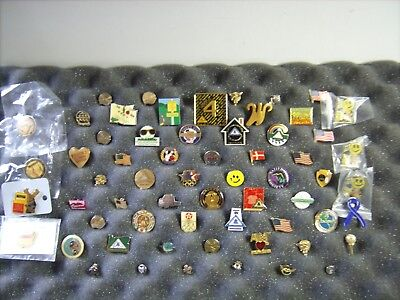 Mixed Pin Lot - Clubs , Olympics , Flags  Etc.  - Used - 60+ Mixed Pin Lot