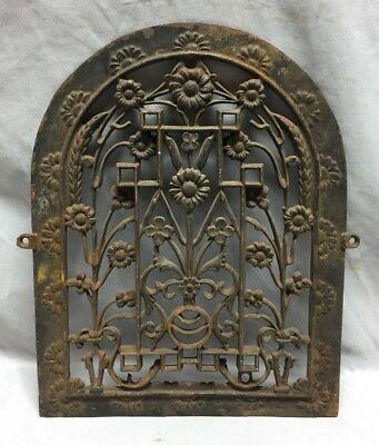 One Antique Arched Top Heat Grate Grill Floral Decorative Arch 11X14 623-18C