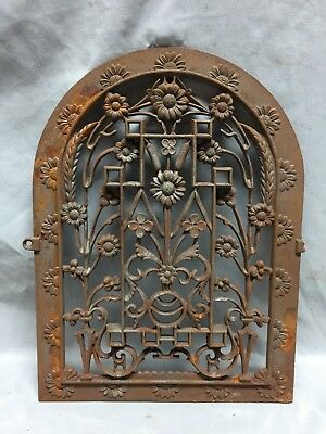 One Antique Arched Top Heat Grate Grill Floral Decorative Arch 11X15 624-18C