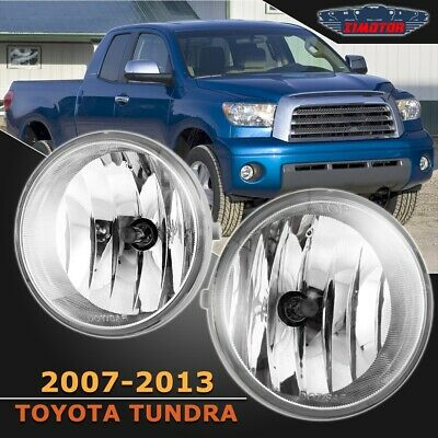 Fit Toyota Tundra 07-13 Clear Lens Pair OE Fog Light Lamp+Wiring+Switch Kit DOT