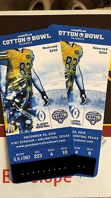 NCAA Playoff Cotton Bowl Notre Dame vs Clemson AT&T Stadium Great Seats