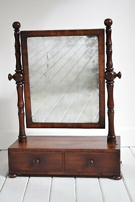 Antique Victorian Mahogany Swing Mirror,Dressing Table Mirror,Antique Mirror
