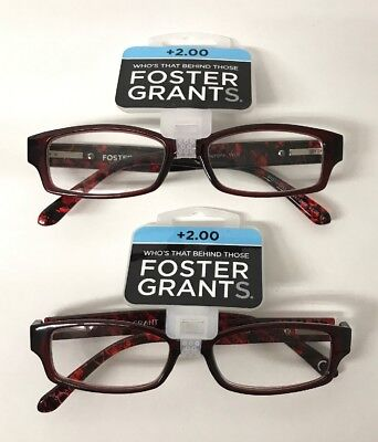cd1a2e2007f0 LOT OF 2 Reading Glasses Foster Grant Beatrice Brown Combo Pack + ...