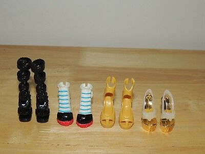 Monster High Doll Sized Shoes For Monster Ever After High Dolls Lot of 4 Pairs!