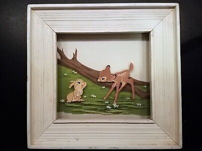 Walt Disney Multiplane Painting, produced by Courvoisier. Bambi & Thumper, No. 5