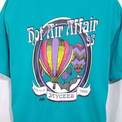 Hot Air Balloon T Shirt Vintage 90s 1993 Jaycees Van Wert Ohio Made In USA 2XL